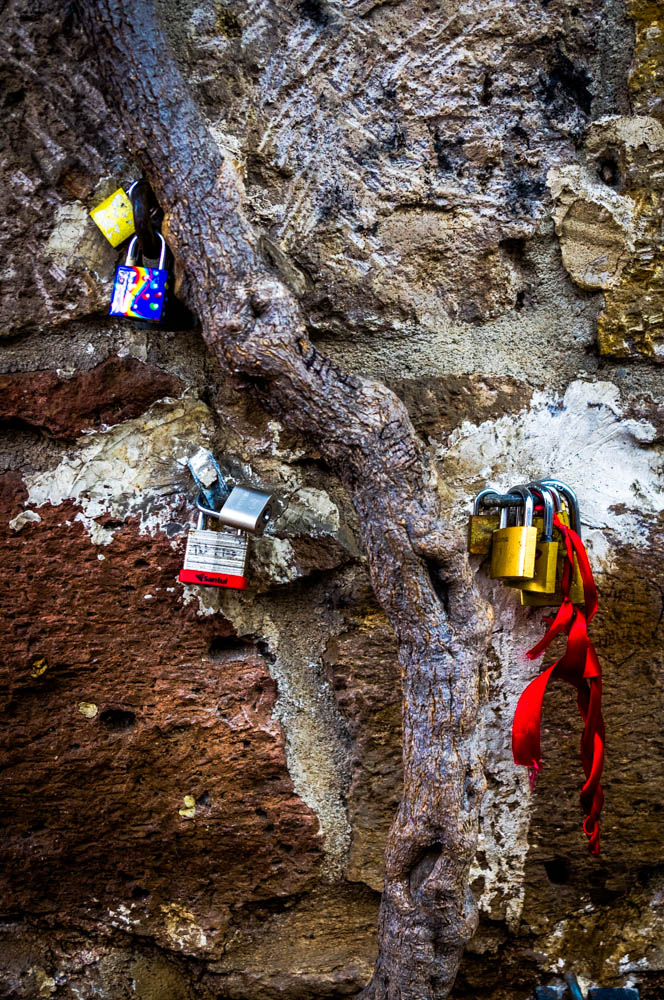 Locked together - on the path of love.