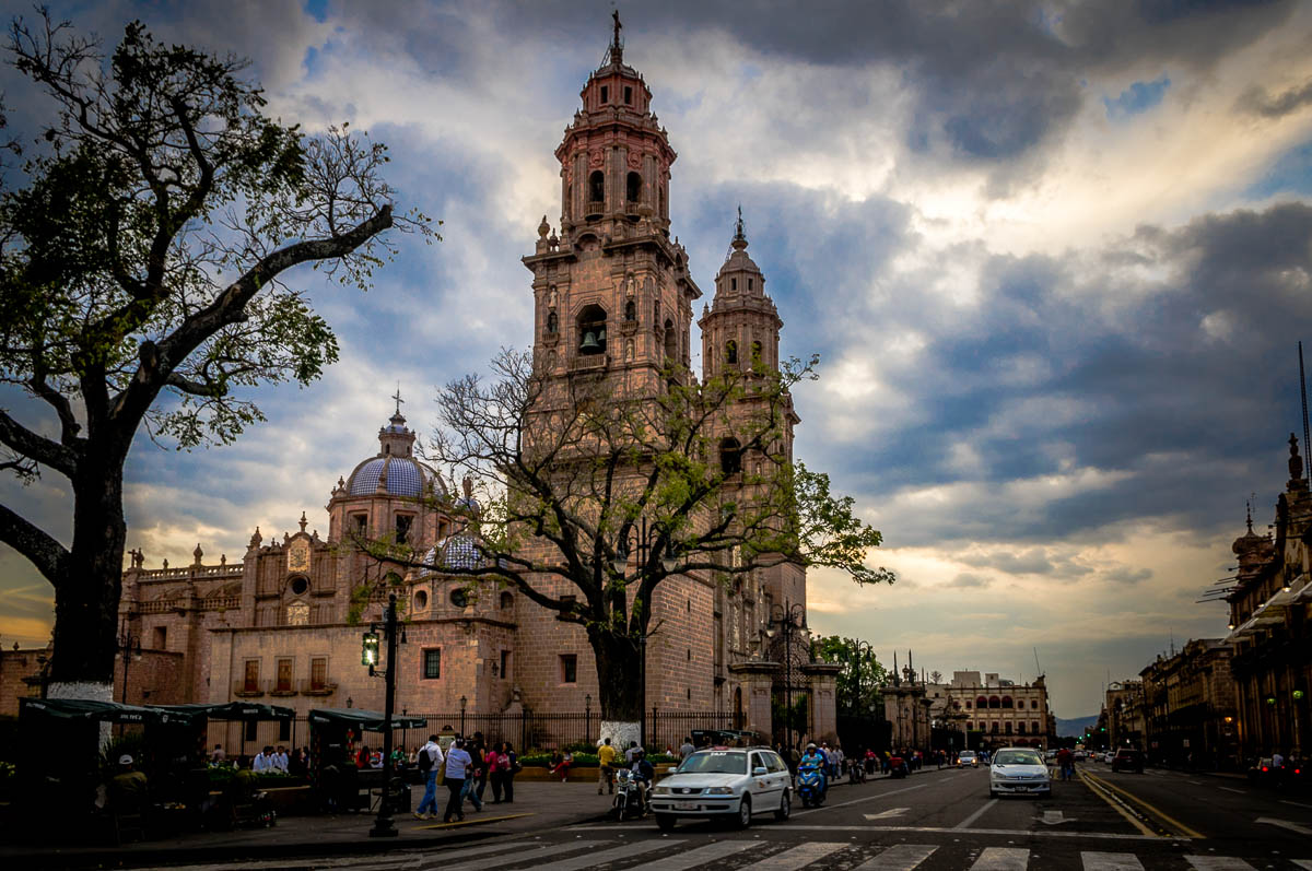 Morelia Cathedral - at the end of the day