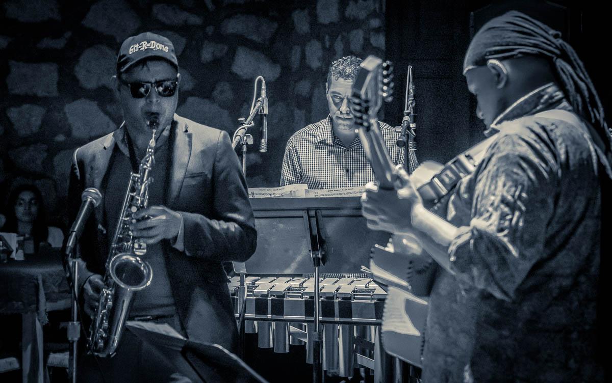 NeMEX Project: Henri Sterling, Vibraphone & Congas, Nemex Villegas - Tenor Sax & Accordin, Omar Marin - Bass,  Ivan Morales Oropeza - Guitar, Efrén Capiz C - Drums, Antonio  Alva - Congas & Vibraphone, & guest Julio Espinosa - Sax