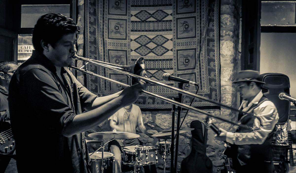 JC Cortez Blues Band: Irepan Rojas - Trombone, Jonathan Macotela - Bass, Roger Vargas - Drums, Juan Carlos Cortez - Guitar and Voice