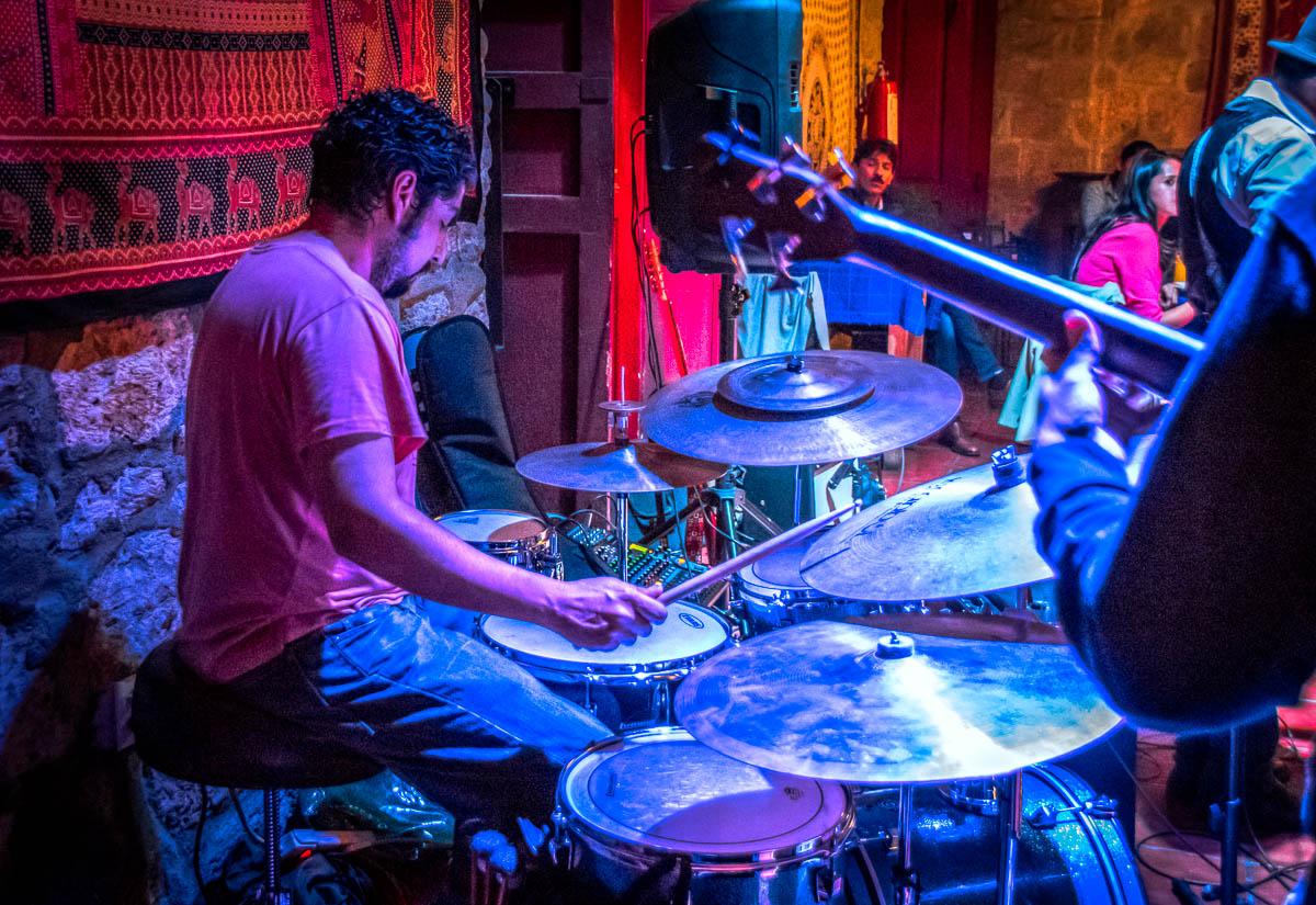 JC Cortez Blues Band: Irepan Rojas - Trombone, Jonathan Macotela - Bass, Roger