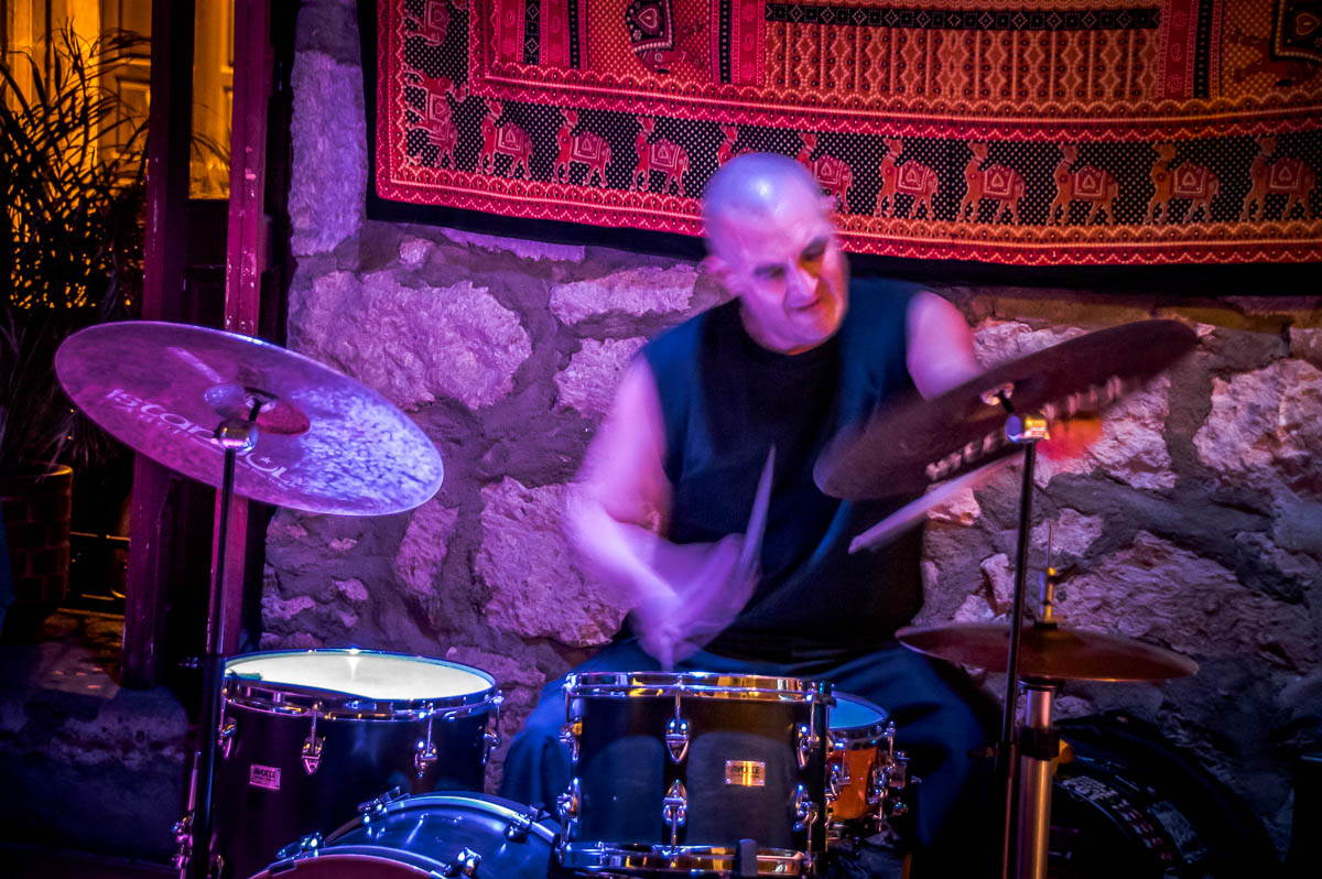 Cosmic Brujo Mutafuka: Marco Eneidi - alto saxophone, Itzam Cano - contrabass, Gabriel Lauber - Drums