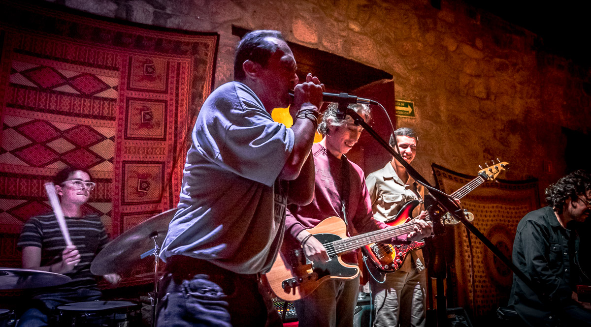 Slim Miller - voice and guitar, Omar Ramirez - Hammond Keyboard, Vic Romero - Bass and Ivan Ramirez - Drums with Charly Blues - Harmonica and Chris Sanchez - Guitar and Voice
